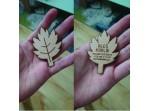 Dřevěné vizitky