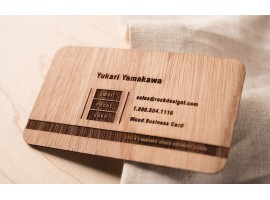 Dřevěné vizitky - oboustranné gravírování