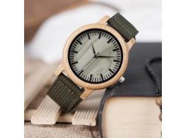 Dřevěné hodinky - Bobo bird Green