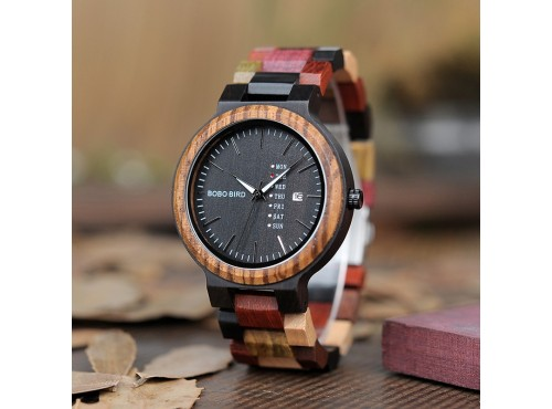 1b5592531 Dřevěné hodinky - Bobo bird ColorWeek - wooday