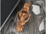 Dřevěné hodinky - triangle