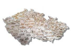Historická mapa Česka s hrady a zámky