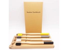 Bambusové kartáčky - sada yellow 4 kartáčky