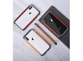 iPhone X - aluminio-dřevěný kryt