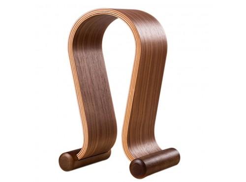 dřevěný stojan na sluchátka